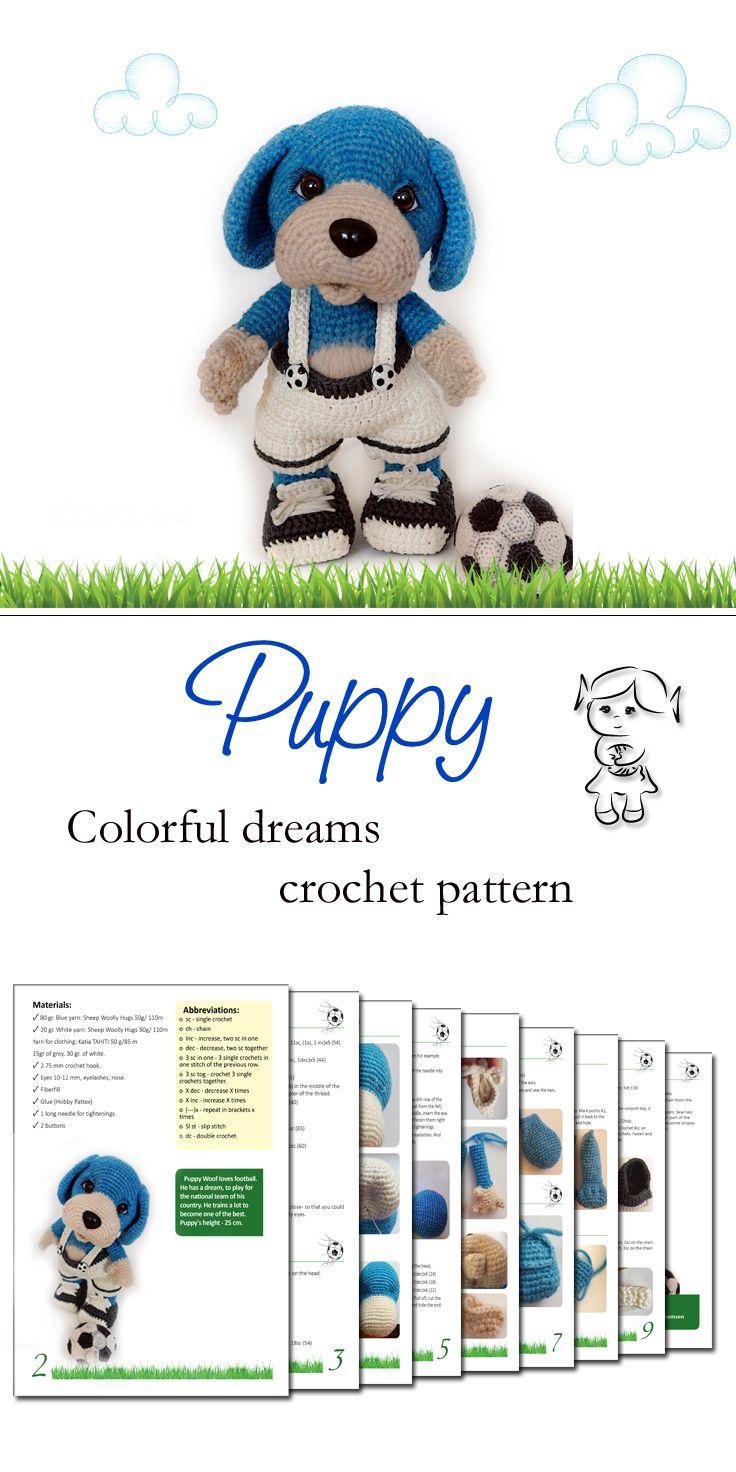 #crochet  #häkelanleitung #hund #crochetpattern #puppy #amigurumi #pattern #colorfuldreams