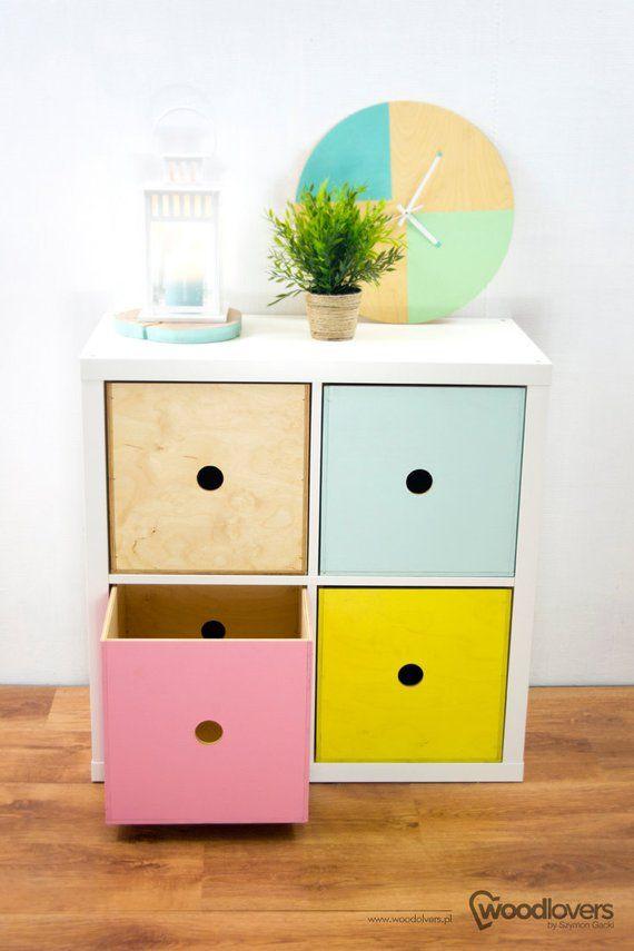 Expectit 1 0 Wooden Box Insert For Shelf Cabinet Ikea Expedit Kallax Ikea Storage Cubes Kallax Ikea Cube Storage