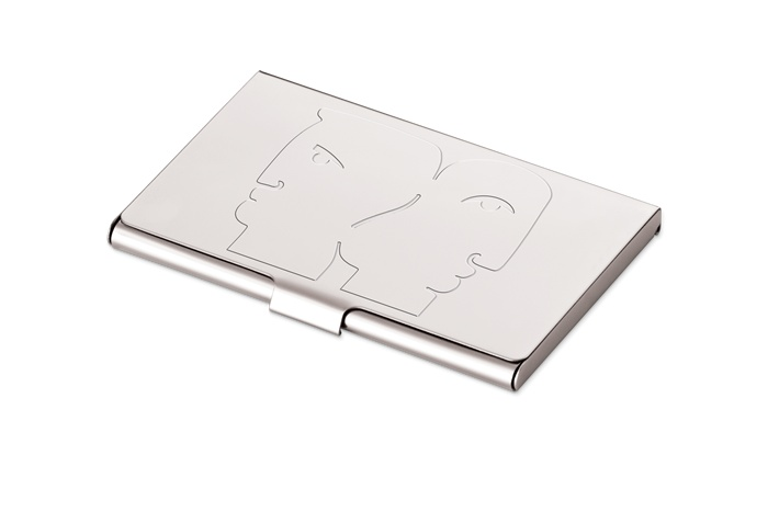 Carrol Boyes Card Holder | This unique card holder is available today at Splendor.co.za - http://www.splendor.co.za/shop/carrol-boyes-card-holder-heads-up/