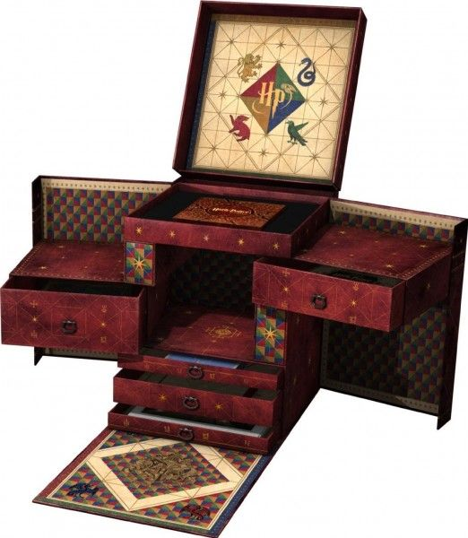 HARRY POTTER Wizards Collection On Sale September 7; Includes All Films on 31 Discs, Never-Before-Seen Footage, and More... Also included is the 19 lbs. gift box, TBA memorabilia, a map of Hogwarts, concept art prints, and more. All of this can be yours for the low, low price of $499.99 Additional features to be revealed on http://www.harrypotter.com
