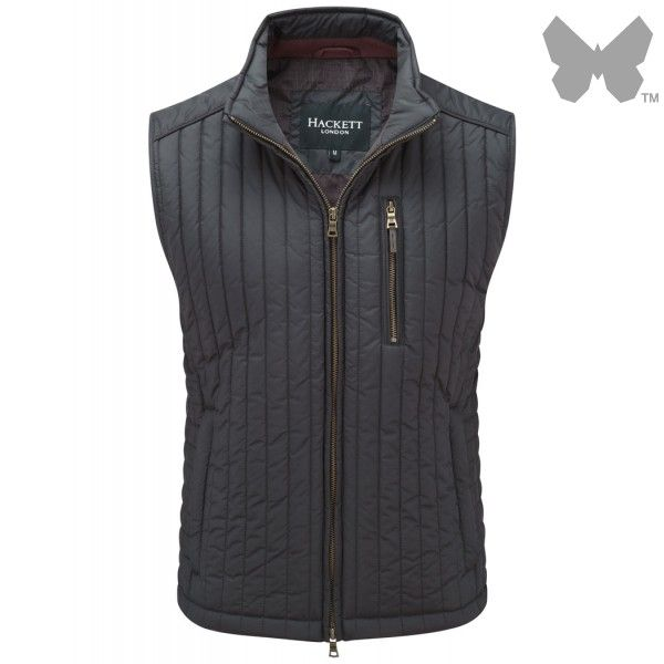 Hackett Men's Channel Quilt Gilet - Navy - Men's Quilted Gilets - Men's Waistcoats / Gilets / Liners - MEN | Country Attire