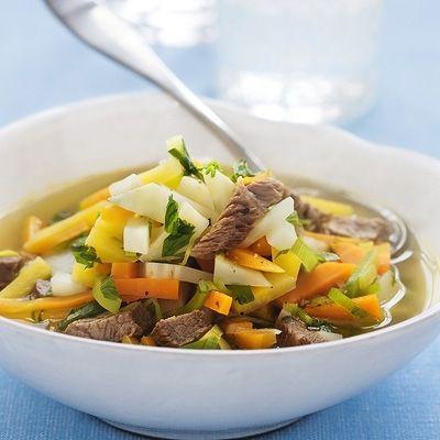 Bild på Kött- och grönsakssoppa