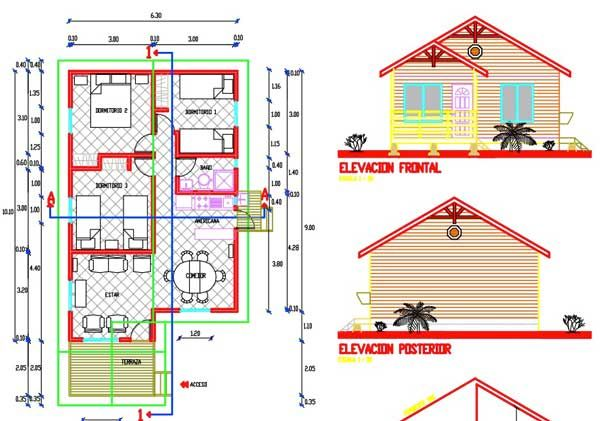 1105 best images about planos de casas peque as on - Planos de casas de madera gratis ...