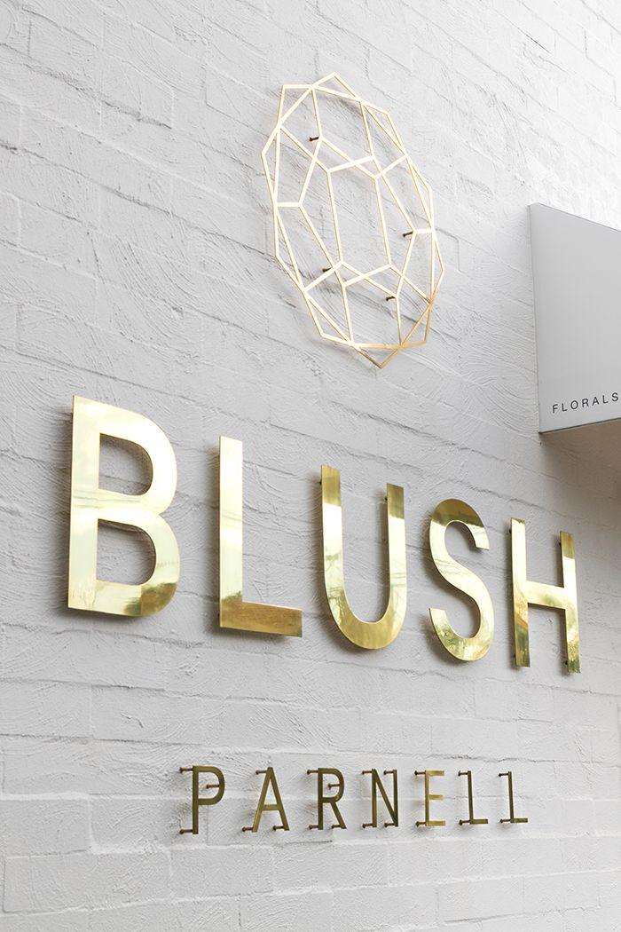BLUSH FLORAL STUDIO Shop signage, Shop signs, Signage design