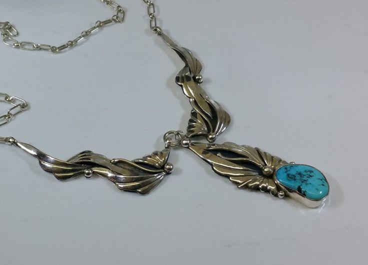 Vintage Halsschmuck - Halskette Indianer Türkis USA Silber 925 rar SK562 - ein Designerstück von Atelier-Regina bei DaWanda