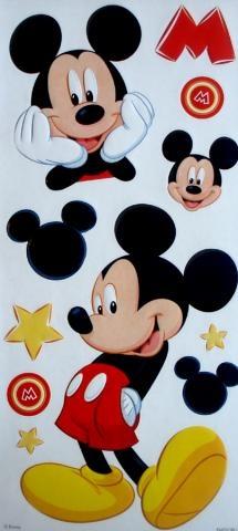 Disney Mickey Mouse embossed Sandylion Scrapbook stickers