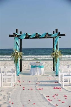 Beach Wedding Decor and Decorations :  Wedding on Florida Beach