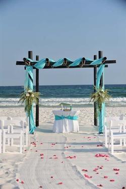 Beach Wedding Decor and Decorations :  Wedding on Florida Beach