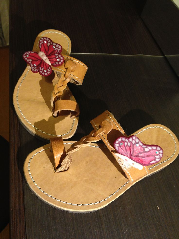 Polymer Clay Butterfly Sandals