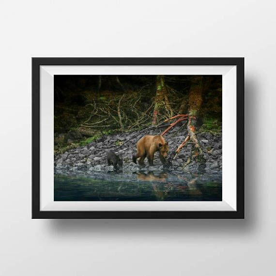 Check out this item in my Etsy shop https://www.etsy.com/ca/listing/560318002/grizzly-mom-and-cub-16-x-20-w-basic