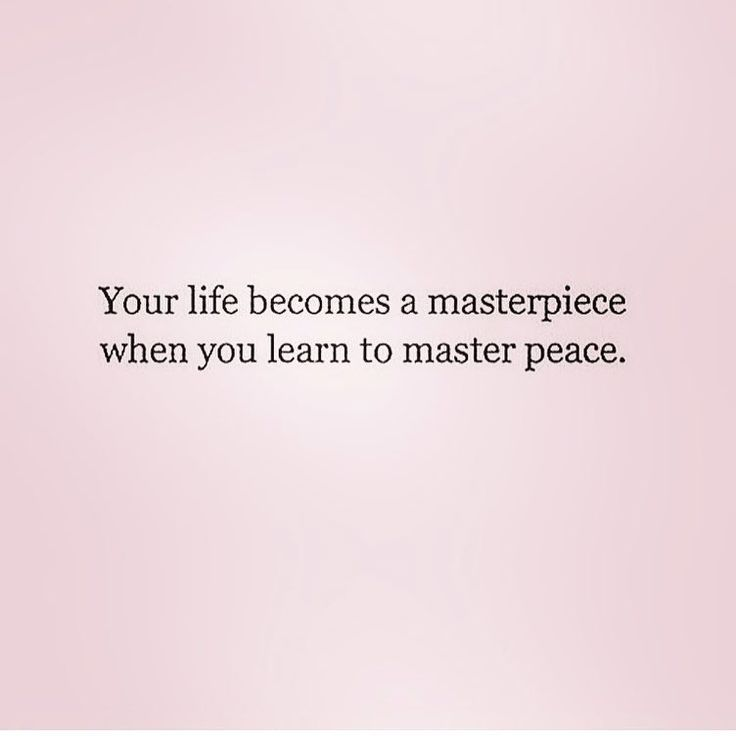 Quote - your life becomes a masterpiece, the moment you master peace. instagram: @gavriellemusic