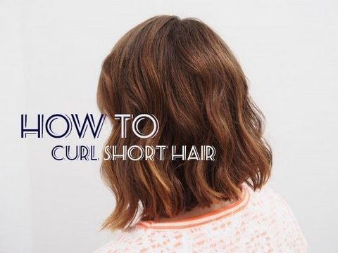▶ How To: Messy Curls for Short Hair | essiebutton - YouTube