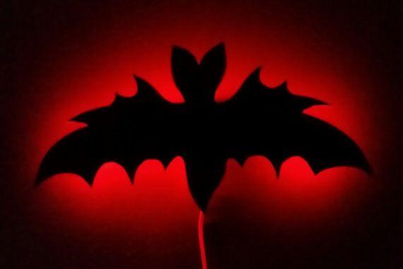 Bat Light, Night Light, Bat, Bat Decor, Horror Decor, Gothic Decor, Horror Decor, Horror, Gothic, Spooky, Halloween by LifeAfterDeathDesign on Etsy https://www.etsy.com/ca/listing/449675398/bat-light-night-light-bat-bat-decor