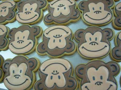 more monkey cookies: Cookies M, Cookie Boutique, Chef Cookies, Cookies Nibler, Cakes Cupcakes Cookies, Cookie Decor, Decor Cookies, Faces Cookies, Cookie Cuteness