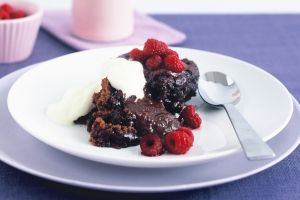 Chocolate self-saucing pudding - I make this all the time and every time it's a huge hit! So simple and easy to make - we never buy packet mixes of pudding anymore!