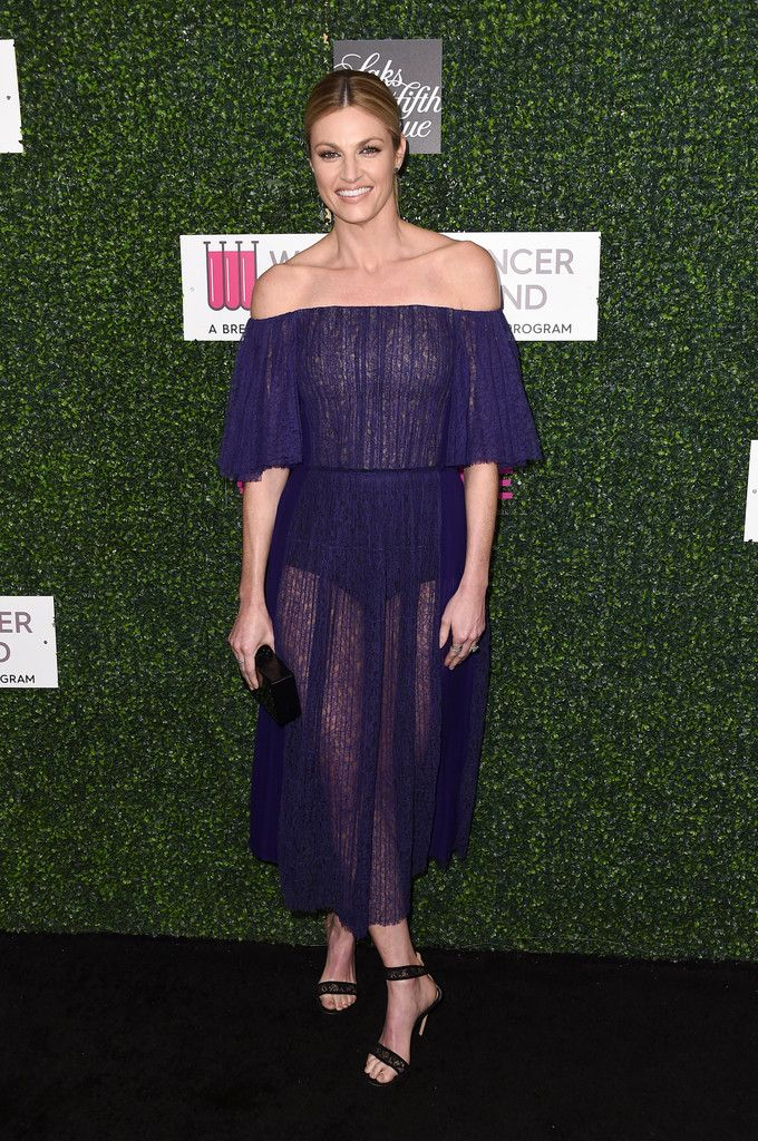 "TV personality Erin Andrews attends WCRF's ""An Unforgettable Evening"" presented by Saks Fifth Avenue at the Beverly Wilshire Four Seasons Hotel on February 16, 2017 in Beverly Hills, California."