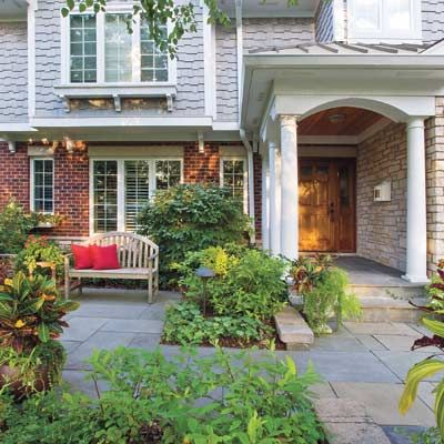 13 best images about patio front yard on pinterest for Courtyard driveway house plans