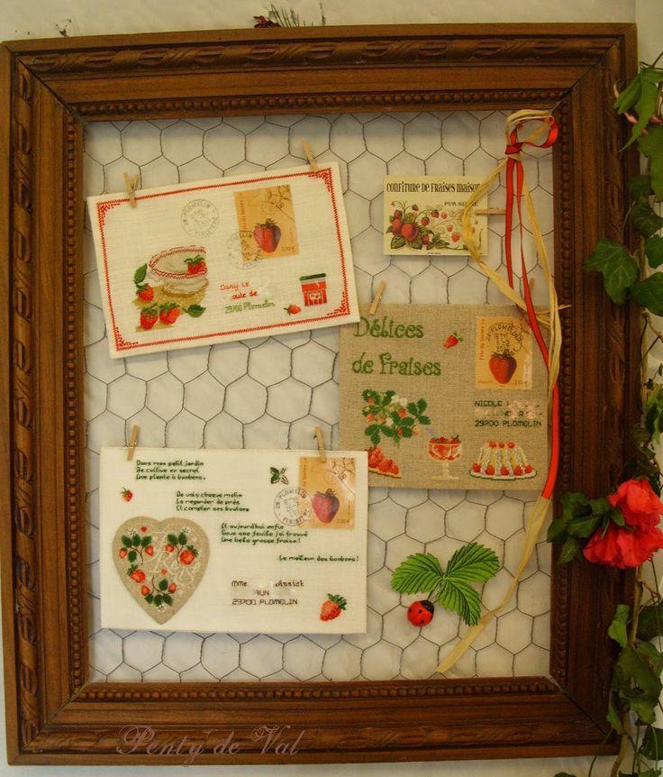 point de croix plomelin fraise d co maison pinterest broderie point de croix et id e couture. Black Bedroom Furniture Sets. Home Design Ideas