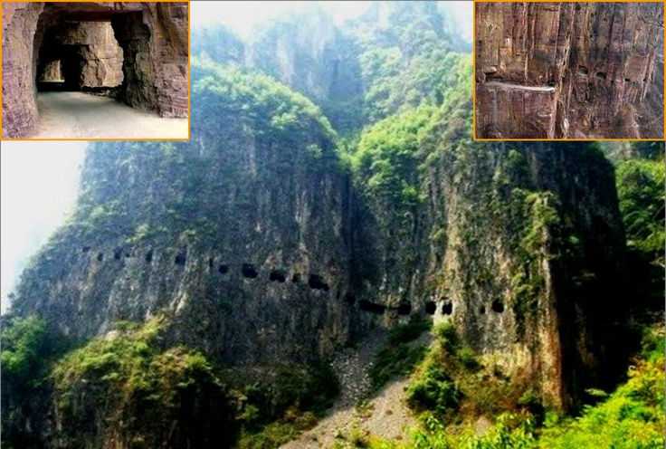 Road-tunnel Guoliang, China. As the village of Guoliang was isolated in a valley13 residents have opened a tunnel in the rock on their own, using only picks.: Guoliang Tunnel, Bucket List, Favorite Places, Places I D, Travel, Roads, China
