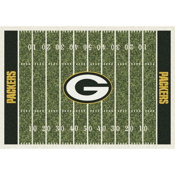 Green Bay Packers Home Field Rug at the Packers Pro Shop http://www.packersproshop.com/sku/2011596110/