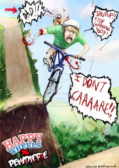 Happy Wheels PewDiePie Hannah I pinned this just for you so find and repin it.