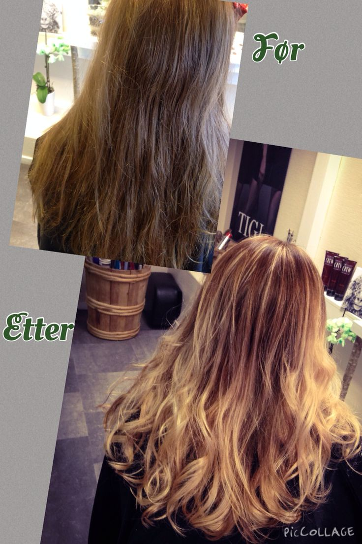 Wella colour 6/1+7/3 at roots and blondor freelights w 9% h2o2