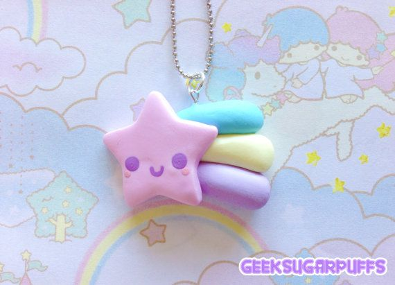 Hey, I found this really awesome Etsy listing at https://www.etsy.com/listing/157937616/polymer-clay-kawaii-pastel-pink-shooting