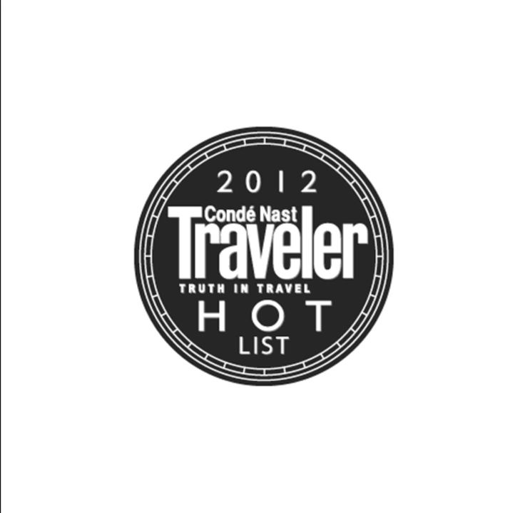 The First nominated in the Conde Nast Traveler Hot List 2012