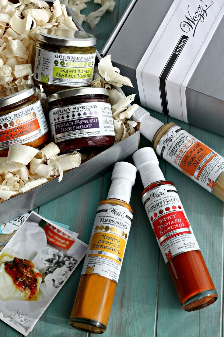 Savory Gourmet Gift Box A collection of our most savory gourmet condiments, dressings, sauces and marinades in an elegant gift box. The perfect unique gourmet gift for the foodie who prefers savory ta