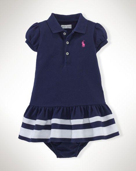 Striped Cotton Polo Dress - Baby Girl Dresses & Skirts - RalphLauren.com