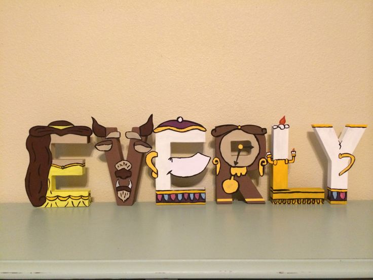 Beauty and the Beast Inspired Birthday Letters, Baby Name, Disney Princess Inspired, Centerpiece, Nursery Letters by LautzOfLove on Etsy https://www.etsy.com/listing/244901364/beauty-and-the-beast-inspired-birthday