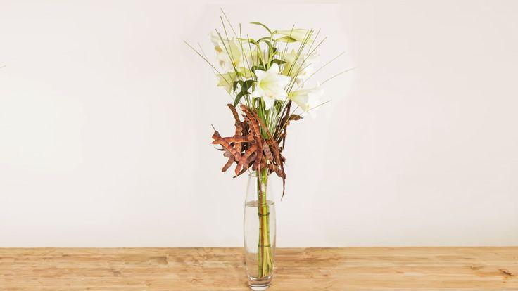 Elegant Rustic Lily Design   Flower Factor How To   Flower Arrangement