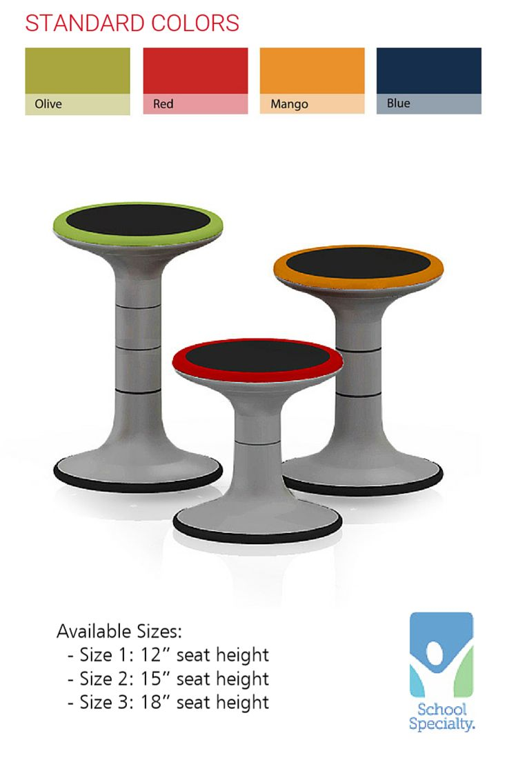 Ideal For This Self Balancing Stool Promotes Movement Without Leaving The  Seat. 4 Polypropylene Rim Colors W/ Foam Seat Pad. Provided By School  Specialty