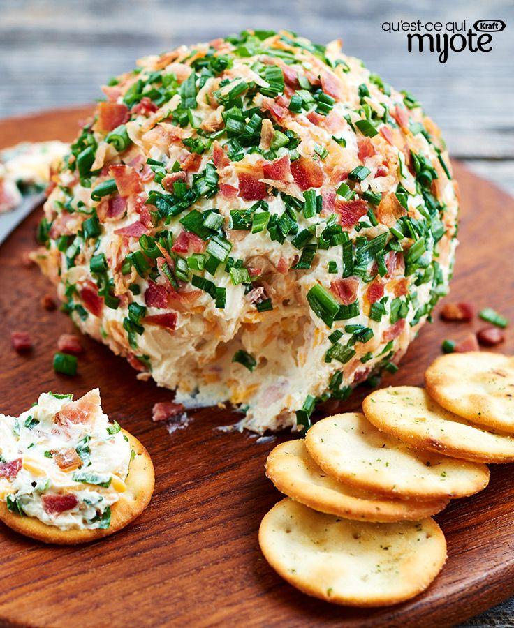 Boule de fromage au bacon et au jalapeno #recette