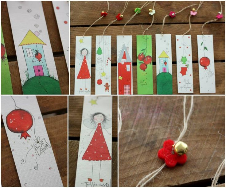 the happy Christmas bookmarks!