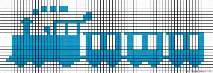 Train perler bead pattern