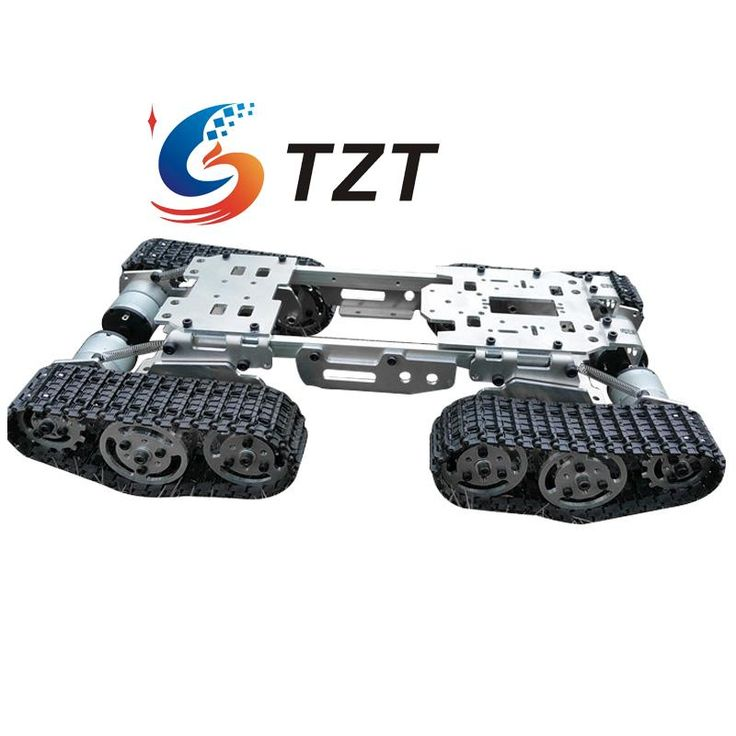>> Click to Buy << WZY569 Intelligence RC Tank Car Truck Robot Chassis 393mmx206mmx84mm CNC Alloy Body 4 Plastic Tracks 4 Motors #Affiliate