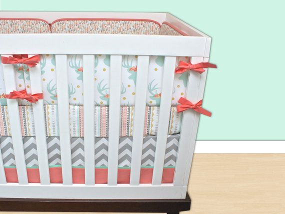 Deer Baby Bedding Set berceau de menthe menthe gris par modifiedtot