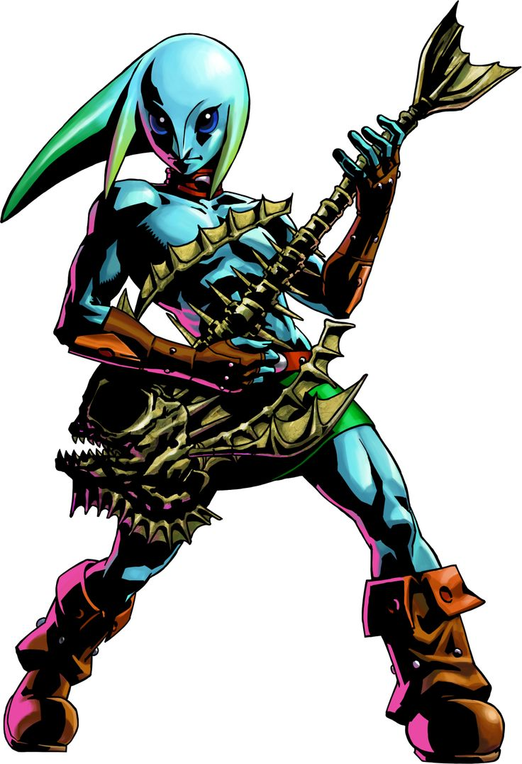 Majoras Mask 3D Official Art Zora Link The Legend Of