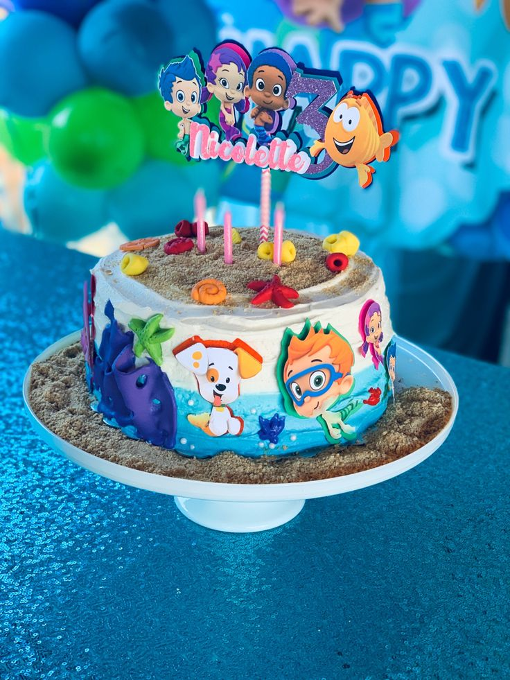 Bubble Guppies cake in 2020 Bubble guppies birthday