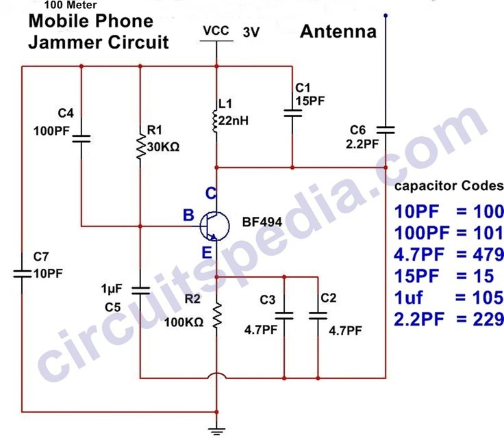 Mobile Phone Jammer Circuit Diagram In 2020