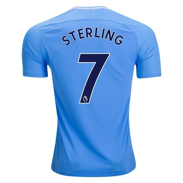 Nike Raheem Sterling Manchester City Home Jersey 17/18