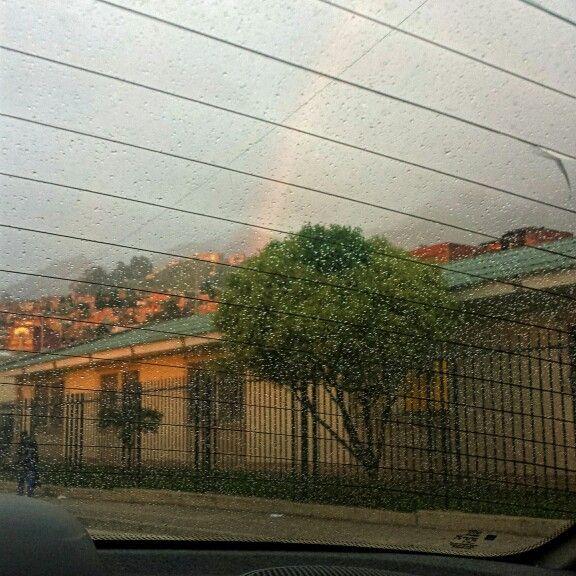 Dia 15: Rayo de sol, lluvia y arco iris... paisaje Bogotano :)