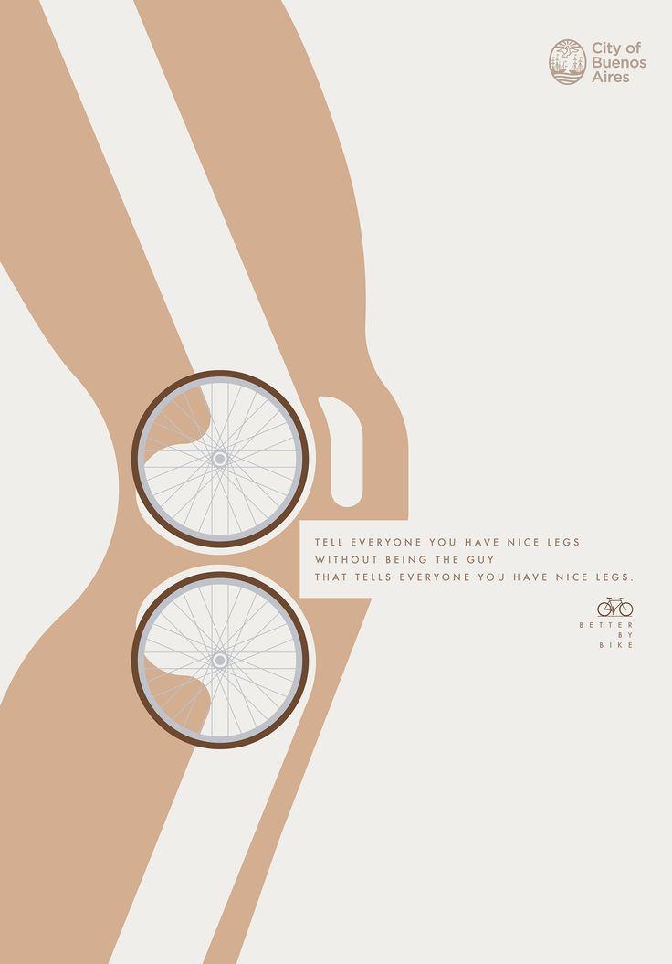 「自転車に乗るメリット」を一瞬で伝える啓発広告 | AdGang
