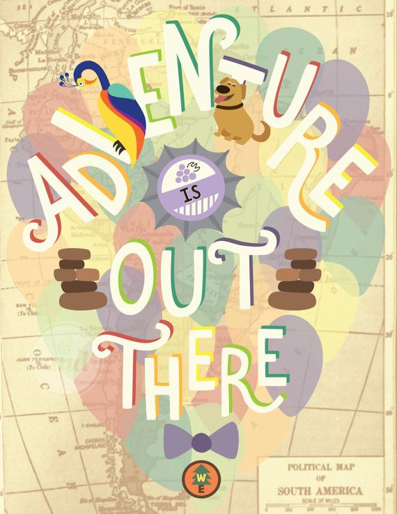 Up Adventure is Out There Print by DesignsByAND on Etsy