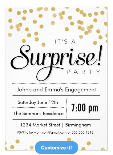 surprise engagement party invitations - Who To Invite To Engagement Party
