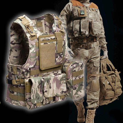 Durable Tactical Military Molle Waistcoat Combat Assault Plate Carrier Vest
