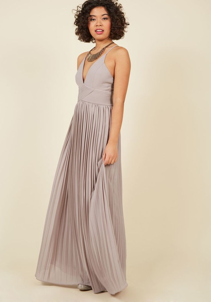 Beautifully By Your Side Maxi Dress in Stone
