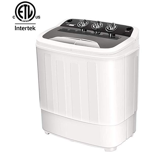 Vivohome Electric Portable 2 In 1 Twin Tub Mini Laundry Washer And Dryer Combo Washing Machine With Drain Hose Fo Portable Washing Machine Laundry Laundry Tubs