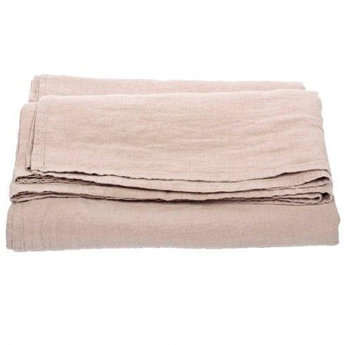 Petit drap en lin lavé via Goodmoods